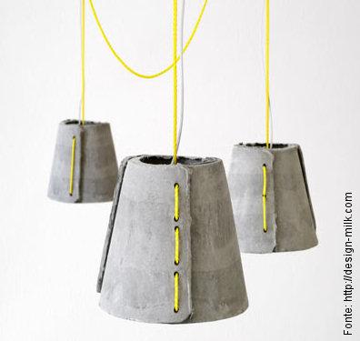 Resultado de imagem para luminaria de concreto
