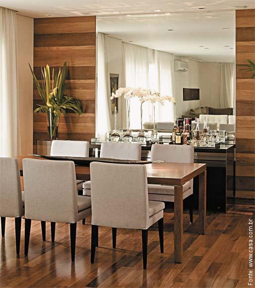 Jogo De Sala De Jantar Em Madeira ~ Inspiração madeira  Passeio  Revestimentos e Sensações