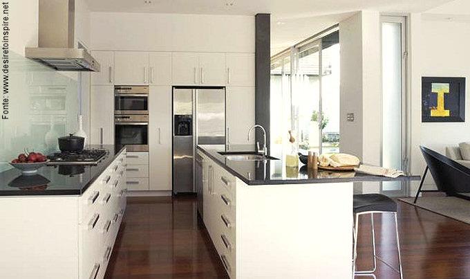 Cozinhas atuais passeio revestimentos e sensa es for Kitchen designs modern homes