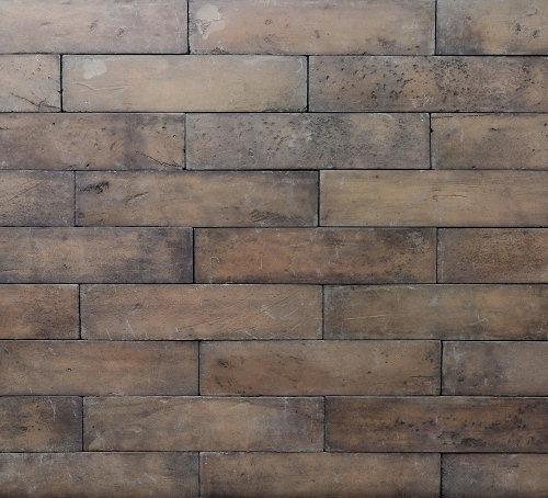 """Brique Lisser na tonalidade """"Terracota Carvão"""": um """"blend"""" na cor de tijolinhos desgastados pelo tempo."""