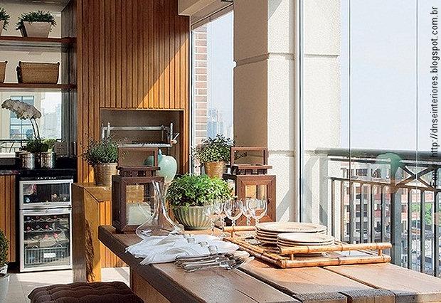 Tend ncia varanda gourmet passeio revestimentos e - Armario balcon ...