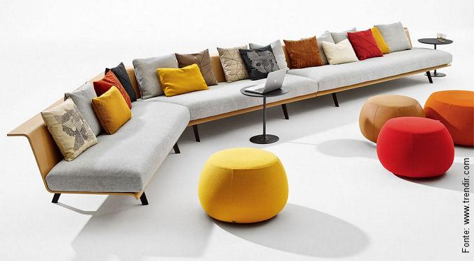 Zinta, um novo sistema modular de sofás, foi lançado em Milão neste ano pela italiana Arper.