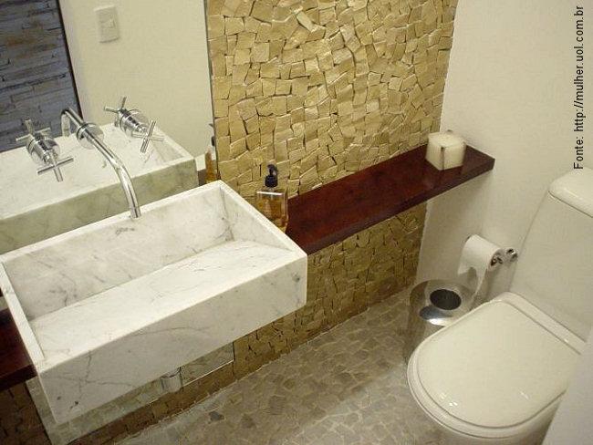 Lavabos revestindo bem passeio revestimentos e sensa es - Altura de lavabo ...