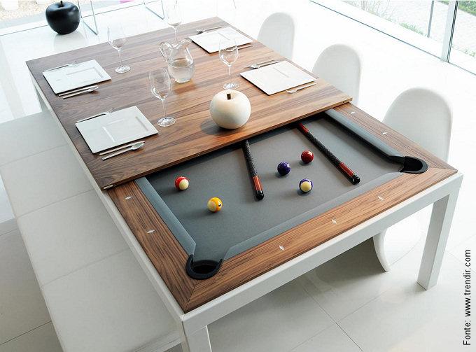 """Bonita, elegante e com dupla função: uma mesa """"fusion"""""""