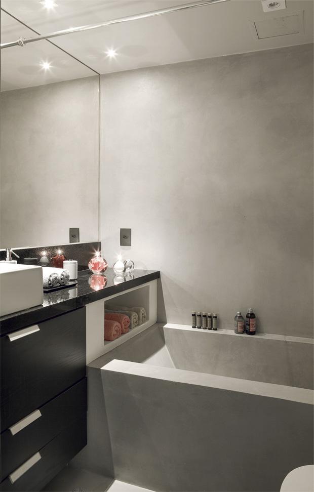 Como redecorar um banheiro pequeno  Passeio  Revestimentos e Sensações -> Banheiro Bem Pequeno